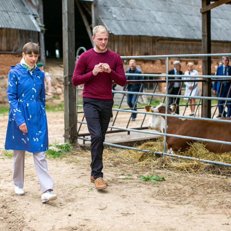 Kersti Kaljulaid külas noortalunik Mehis Visnapuul