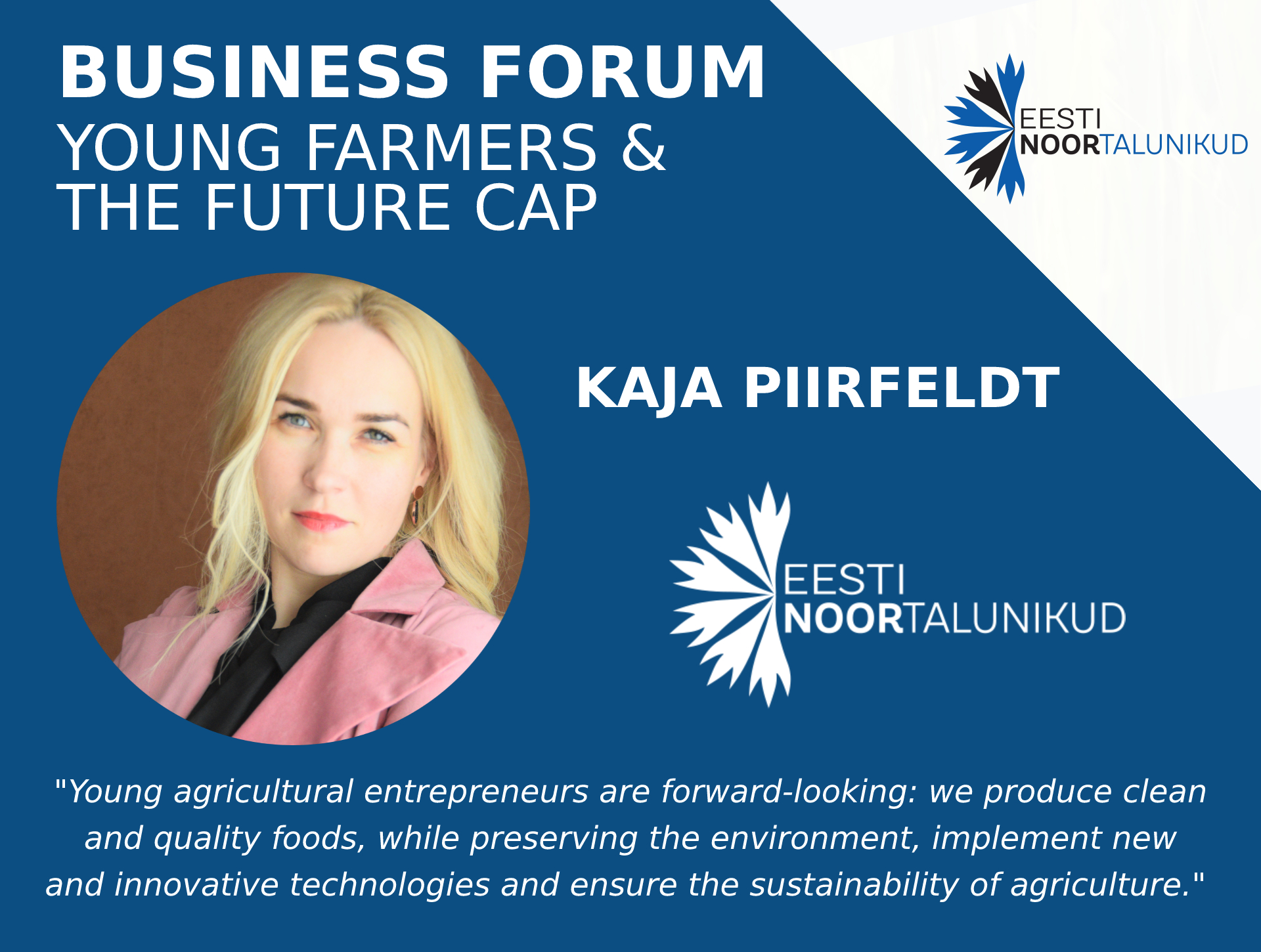 Kaja Piirfeldt - Estonian Young Farmers Association